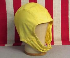 Vintage 1960s US Navy Canvas Flight Deck Helmet Cap USN Yellow Sz.7 Military Hat