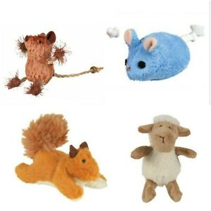 Trixie Plush Cat & Kitten Toy with Catnip Choose from Mouse Squirrel or Sheep