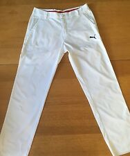 Puma Golf Pants White Sport Lifestyle 34X33 Vendor Sample NWT