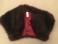 French Connection Burgundy Faux Fur Shrug Size 6 - New