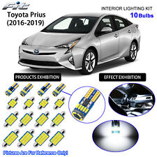 10 Bulbs LED Interior Dome Light Kit 6000K Cool White For 2016-2019 Toyota Prius