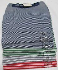Basic Editions Stripe T-Shirt XL 6 Pc 4 Colors 50/50 Cotton/Polyester Vintage