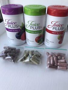 Juice plus capsules 20 Berry, 20 Fruit, 20 Veg, dated NEW STOCK 2022