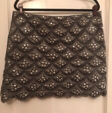 Rhinestone Mini Skirt Size 14 / XL By Pink Tartan Great For The Holidays