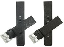 22mm Genuine Leather Diesel Watch Replacement Watch Band Strap, Black or Brown