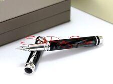 Montegrappa Espressione stylo NACRE-Edelharz fumeur noir en acier inoxydable
