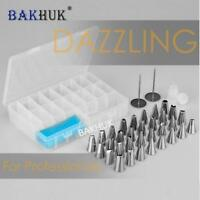 38pcs/set Baking Pastry Tools Stainless Steel Nozzles Piping Bag