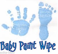 New Baby Boy Blue Toddler Newborn Imprint Paint Wipe Hand Footprint Prints Kit