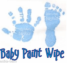 New Baby Boy Blue Toddler Newborn Imprint Paint Wipe Hand Footprint Prints Kit
