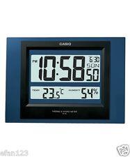 ID-16S-2D Blue Casio Auto Kalender Thermo Hygrometer Wand Schreibtisch Uhr 16S
