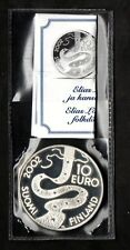 FINLANDIA FINLAND 10 EURO 2002 ELIAS LONNROT ARGENTO SILVER PROOF ZECCA MINT