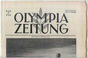 14.02.1936 OLYMPIA ZEITUNG Number 10 - Olympic Games Garmisch-Partenkirchen 1936