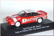 """Opel Manta B 400 """"BASTOS"""" Rallye de Wallonie 1984 #1 Colsoul SCHUCO 1:43 le"""