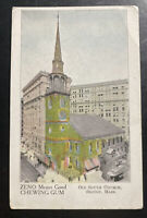 Mint Usa Advertising Picture Postcard Boston Ma Zeno Chewing Gum