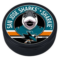 "San Jose Sharks Sharkie Mascot 3D Textured ""Raised Letters"" Hockey Puck - NEW"