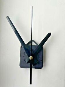 Clock Movement - Large Black Quartz Sweeping Hands 'AA' Battery - Mechanism UK