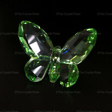RARE Retired Swarovski Crystal Brilliant Butterfly Light Peridot 855773 Boxed