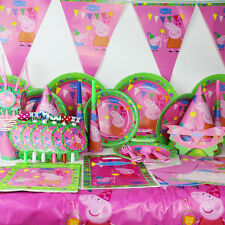 2017 1 set New Luxury Kids Peppa Pig Theme Birthday Party Supplies Tableware Set