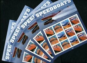 US Scott 2160-63 SpeedBoats  FOUR Mint NH  Sheets of 12 of 41 cent