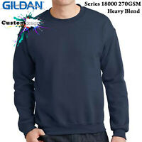 Gildan Navy Heavy Blend Basic Sweat Sweater Jumper Sweatshirt Mens S-XXL