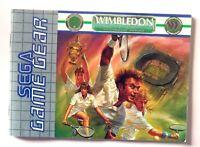 47714 Instruction Booklet - Wimbledon - Sega Game Gear (1992) 672-0941-50