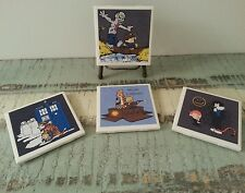 Calvin and Hobbes Walking Dead, Firefly, Dr Who, Sherlock theme coasters