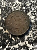 1934 Canada Small Cent (8 Available) Circulated (1 Coin Only)