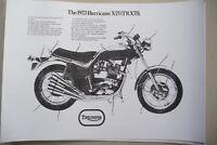 1971 Triumph X-75 Hurricane sales brochure A4 one copy