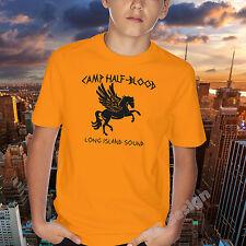 Camp Half Blood T-shirt Pegasus Horse Long Island Sound Jackson greek percy gods