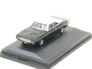 Oxford Diecast 87DC68003 Dodge Charger 1968 Black/White 1 87 Scale Boxed
