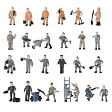 25pcs 1:87 Figurines Painted Figures Miniatures of Railway Workers H8Q5