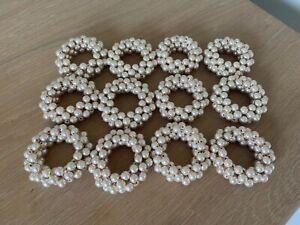 set of 12 beaded napkin rings - brand new