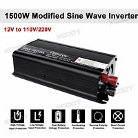 Inversor Convertidor 1500W 12V a 220V Power Inverter Onda sinusoidal modificada