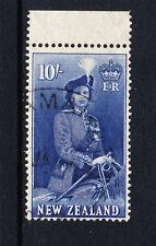 NEW ZEALAND 1953 10/- DEEP ULTRAMARINE SG 736 FINE USED.