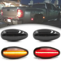Smoked LED Dually Fender Bed Marker Light for 01-14 Chevy Silverado GMC Sierra