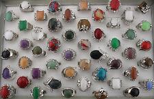 35pcs Mixed Lots Assorted Natural Stone Rings Fashion Lady's Ring Gifts AH1002