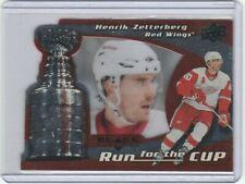2008-09 Black Diamond #17 Run for the Cup Henrik Zetterberg  /100