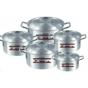 Cooking Pots Aluminium Tiger 5 Pcs Set  Sizes #  1,2,3,4,5 (Free Post in UK)