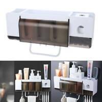 Super Bathroom Accessories Set Toothbrush Holder Shower Shelf Storage