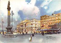 Cartolina - Postcard - Illustrata - Raimondi - Trieste - Piazza Unità
