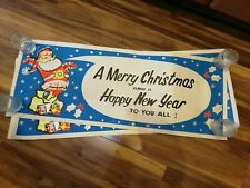 Vintage Retro 50s 60s 70s Christmas picture decoration poster new old stock shop
