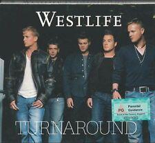 WESTLIFE - TURNAROUND + BONUS VCD DISC 2003 UK CD/VCD ALBUM CARDBOARD SLIPCASE