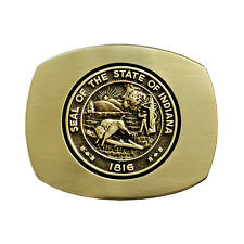 Indiana State Seal Belt Buckle OBMS113 IMC-Retail