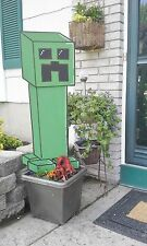 Handpainted Minecraft Creeper-Birthday Sign-Banner