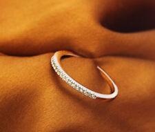 1.5 CT Women's 14K White Gold Over Diamond Wedding Band Ring FREE SHIPPING