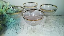 Crystal Arcadia Hand Made in Rumania Wine Glass Set of 4