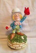 Vintage Alice In Wonderland Mad Hatter Music Box Schmid Tea For Two japan rare