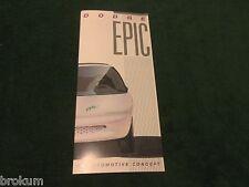 """MINT 1996 DODGE EPIC DEALER SALES BROCHURE ELECTRIC CAR 8-1/2"""" X 3-3/4"""" (R-7)"""