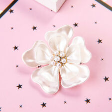Brooch Fashion Jewelry Cloth Accessories Delicate White Camellia Flower Shape
