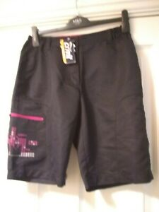 BNWT Crivit Sports Black Cycling Shorts Size S (10/12)